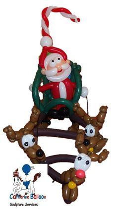 Santa and his Sleigh Christmas Balloons, Christmas Ornaments, Santa, Holiday Decor, Home Decor, Decoration Home, Room Decor, Christmas Jewelry, Christmas Decorations