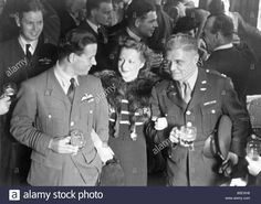 Dam Busters.wing Commander Guy Gibson And Mrs Gibson Talking With Stock Photo, Royalty Free Image: 20611844 - Alamy