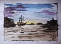 Dhosh: Mar de aquarela - por Marcelo Dhosh www.dhosh.com
