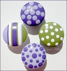 Hand Painted Knobs  Dresser Drawer  by SweetPetitesBoutique, $6.00