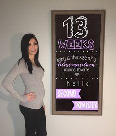 13 WEEK BUMPDATE #pregnancy #13weeks #13weekspregnant #pregnancychalkboard
