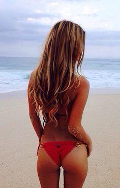 x Red Bikini, Bikini Beach, Summer Of Love, Summer Beach, Pin Up, Bikinis, Swimwear, Swimsuits, Beautiful Long Hair