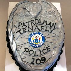 New Jersey Police Badge Cake!
