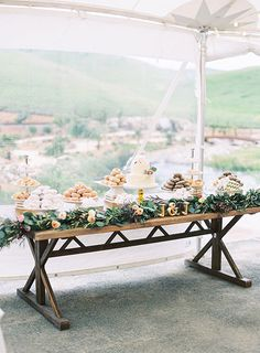 Spring Wedding on a California Vineyard, Dessert Table | Brides.com