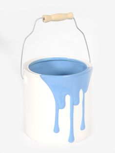Ceramic Blue Paint Pot. Something a little different for centrepieces?