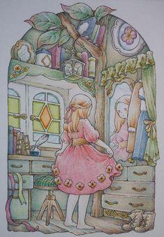 Manga Anime, Anime Art, Pastel Art, Beautiful Drawings, Coloring Book Pages, Ghibli, Colored Pencils, Folk Art, Sketches