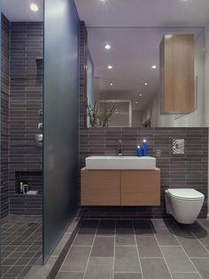I love the modern, clean cut style this bathroom has.