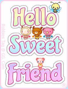 Glitter Graphics: Hello Sweet Friend