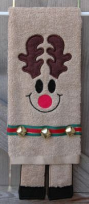 Towel Leg Designs :: Reindeer Legs Towel - Embroidery Garden In the Hoop Machine Embroidery Designs