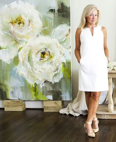 Atlanta artist Susie Pryor in her studio. CONTRIBUTED BY ERICA GEORGE DINES