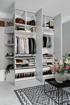 nice closet solution (here in a living room)