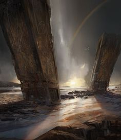Monolith Shore, Titus Lunter on ArtStation at https://www.artstation.com/artwork/monolith-shore