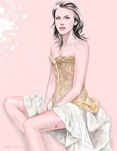 Fashion Illustrator Mengjie Di: Drawing for Maggie Norris