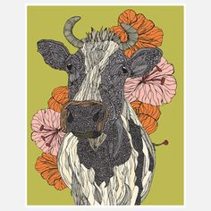 Moo Print 11x14 now featured on Fab.$19.50