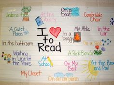 """""""I Love to Read ____"""" Student created poster constructed during our """"Reading Life"""" unit.  www.chalkintherain-blog.blogspot.com"""