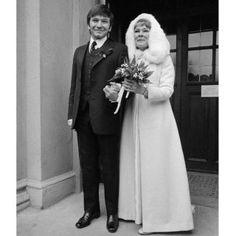 Judi Dench wedding dress cape
