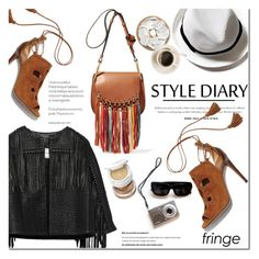 """Fringe fringe, Baby !"" by dian-lado ❤ liked on Polyvore featuring Chloé, By Malene Birger, Aquazzura, Tom Ford, TrickyTrend, fringe, SpringStyle and festivaltrend"