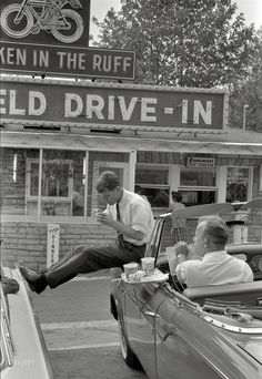 Bobby Kennedy taking a break from his brother's campaign. 1960.