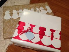 Snowman Gift Wrap - Snowman Paper Chain Ribbons on Gifts | Flickr - Photo Sharing! http://www.pinterest.com/bethob/wrap-it-up-with-a-little-whimsy/