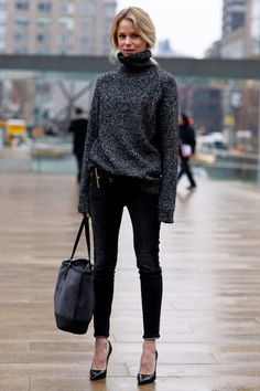 Cozy Street Style To Copy - love the belt