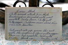 A classic vintage recipe from the files - Swiss Steak