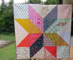 .: Cotton + Steel Giant Vintage Star quilt - wahoo! :.