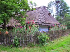 Roztocze Region in Poland - Guciow Farm Farm Paintings, Visit Poland, Cottages And Bungalows, Poland Travel, Garden Shop, Cozy Cottage, Traditional House, Countryside, Cool Pictures
