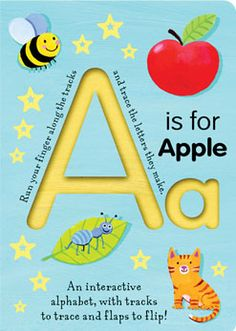 Read A Is for Apple (Trace-and-Flip Fun!) (Smart Kids Trace-and-Flip) baby book by Georgie Birkett . This brilliant, innovative book offers an engaging new way for children to discover and learn basic concepts of the alp Images Alphabet, Alphabet Crafts, Alphabet Books, Phonics Books, Alphabet City, Alphabet Games, English Alphabet, Teaching The Alphabet, Learning Letters