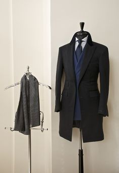 Single Breasted 100% Cashmere Peak Lapel Over Coat Handmade by Manolo Costa