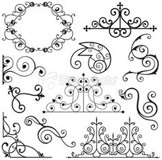 Wrought Iron quilling inspiration