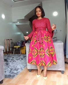 Best African Dresses, African Fashion Ankara, African Inspired Fashion, African Print Dresses, African Print Fashion, African Attire, Simple Dresses, Short Dresses, African Traditional Wear