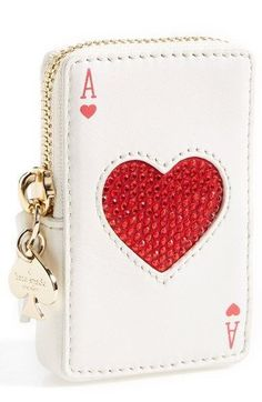 kate spade new york kate spade 'place your bets' card coin purse available at - bags for shopping, chain bags online shopping, black leather bag *ad Cheap Purses, Cute Purses, Cheap Handbags, Purses And Handbags, Luxury Handbags, Cheap Bags, Designer Handbags, Gucci Handbags, Purses Boho