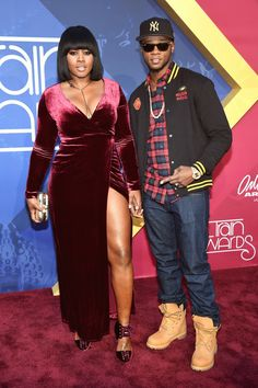Rappers Remy Ma and Papoose Look Amazing Side By Side On The Carpet.