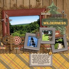 exploring the wilderness scrapbook layout