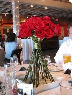 Red Wedding Centerpiece