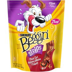 Treat your dog to a snack made with REAL bacon. From Thick Cut's, Combinations, Littles & Original Beggin' Strips® your dog knows there's no time like Beggin' time... 25oz Pouch, Pack of 1 from Amazon.com.
