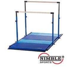 Nimble Sports 3Play and Folding Gymnastics Mat Set - Blue Uneven Bars, Blue/Light Blue Folding Gymnastics Mat