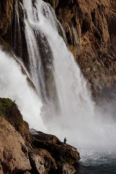 Fishing - Duden Waterfall - Antalya, Turkey