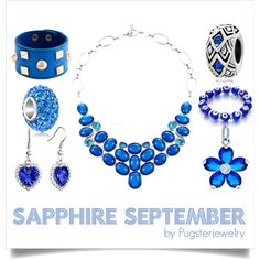 """#Sapphire September"" by pugsterjewelry on Polyvore #blue #fasihion"