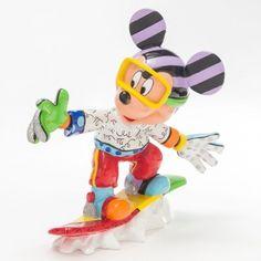 Disney Britto Snowboarding Mickey Figurine Available @ Li'l Treasures $88 - Australian Store