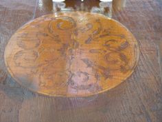 Large Tuscan Round Dining Table, Last Quarter of 19th Century | From a unique collection of antique and modern dining room tables at https://www.1stdibs.com/furniture/tables/dining-room-tables/