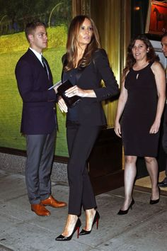 Melania Trump exiting Ralph Lauren's Polo Bar in New York in September