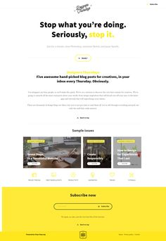 #best #ever #landing #page Love it! I subscribed. ;)