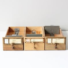 library index card drawers