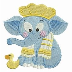 Bathtime Elephants 1 - 4x4 | What's New | Machine Embroidery Designs | SWAKembroidery.com Ace Points Embroidery