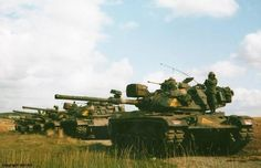 US M-60 tanks of the 3rd Armored Cavalry Regiment. Exercise Reforger, 1983.