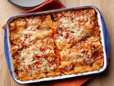 Shortcut Chicken Enchiladas recipe from Food Network Kitchen via Food Network Mexican Dishes, Mexican Food Recipes, Ethnic Recipes, Dinner Recipes, Mexican Meals, Yummy Recipes, Recipies, Mexican Lasagna, Mexican Chicken