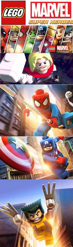 Lego Marvel SuperHeroes give you what you want from Mavel and Lego video games Lego Marvel, Playstation, Xbox, Lego Videos, Fantastic Four, Video Game, Avengers, Nintendo, March 6