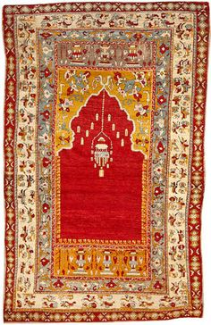 Turkish rug  Turkey  Late 19th century  size approximately 4ft. x 6ft. 3in.