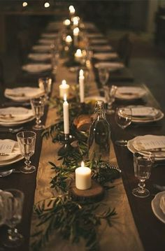 Winter inspired table settings for any occupation via  www.apartmenttherapy.com    #winter #setthetable